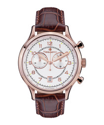 Orbite brown leather watch