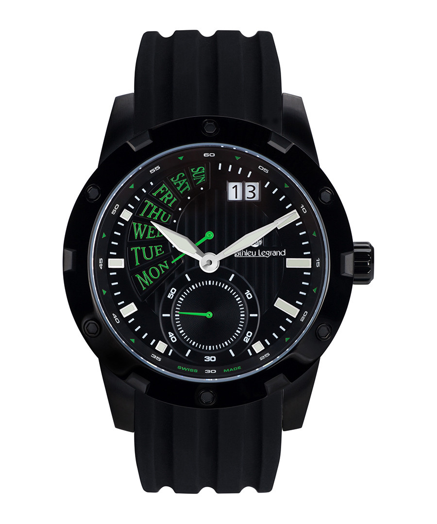 Survolteur IP black & silicone watch Sale - mathieu legrand