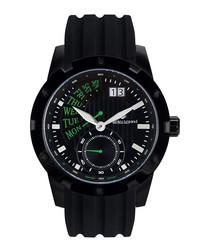 Survolteur IP black & silicone watch