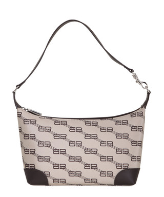 7e2d42960965 BB Monogram beige   brown shoulder bag Sale - VINTAGE Balenciaga Sale
