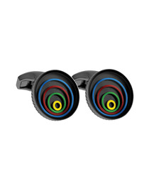 Multi-colour ring pattern cufflinks