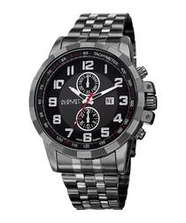 Grey dual tone tachymeter ring watch