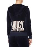 Dark navy velour zip-up hoodie