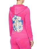 Dragon fruit velour zip-up hoodie