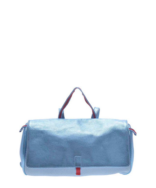 a016621ded3 Blue metallic leather cylinder backpack Sale - Vintage Miu Miu Sale