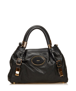57b988696bd Victoria black leather grab bag Sale - VINTAGE Chloé Sale