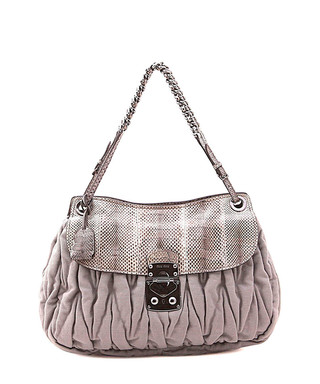 63a9bf4c65f Grey leather small shoulder bag Sale - Vintage Miu Miu Sale
