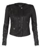 Ramu black leather jacket