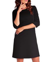 Black 1/2 sleeve shift dress