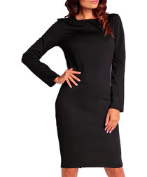 Black long-sleeve dress