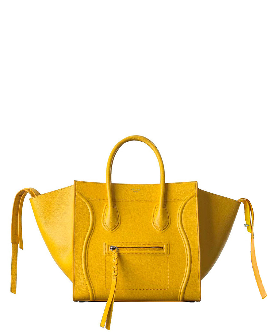 C¨¦line Phantom medium yellow leather bag, Designer Bags Sale ...