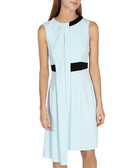 Pale blue draped dress