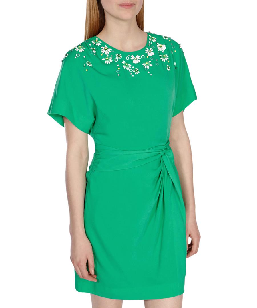 Discount Green 3D floral bead dress | SECRETSALES