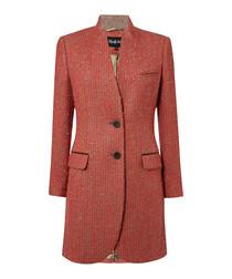 Harrington poppy bouclé pure wool coat
