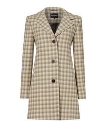 Piccadilly sage/cream pure wool coat