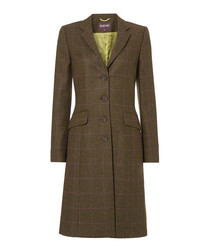 Aston ivy & magenta pure wool coat