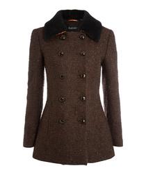 Ebury chestnut pure wool coat