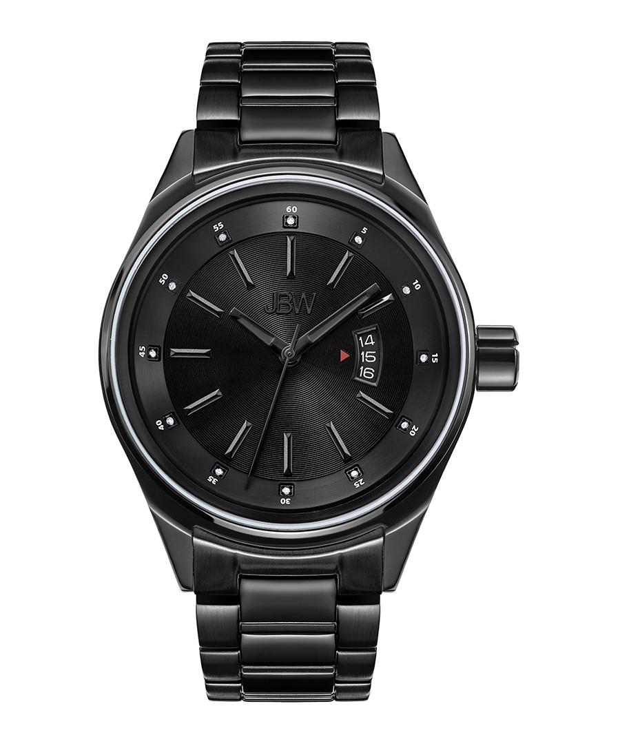 Rook black steel & diamond watch Sale - jbw