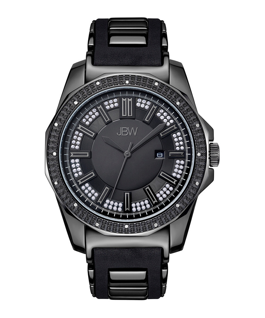 Regal black steel & diamond watch Sale - jbw