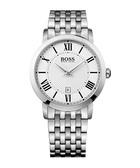Gentleman white dial steel watch