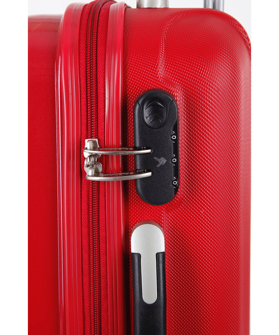Discount calma 3pc red spinner suitcase set secretsales for Calma house outlet