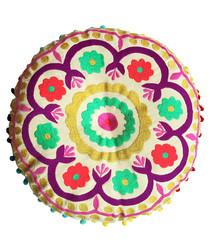 Tibet pink round cotton cushion