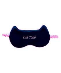 Image of Cat Nap black & pink eye mask