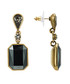 Bronze & black crystal drop earrings Sale - lilly & chloe Sale
