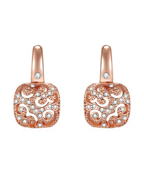 Rose gold-plated boxy drop earrings