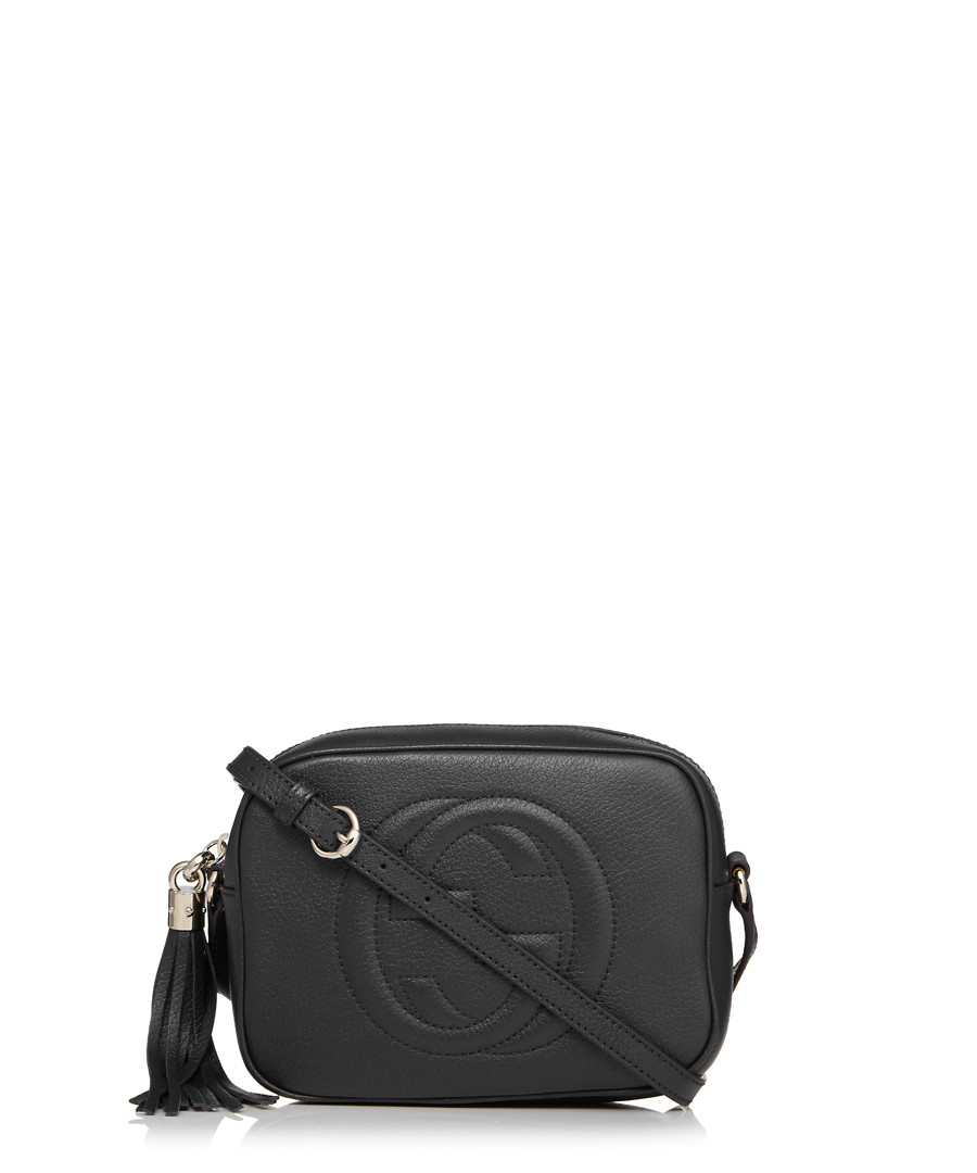 Discount Soho Disco Black Leather Cross Body Bag SECRETSALES - Free download of invoice template gucci outlet store online