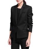 Laos black cotton blend blazer