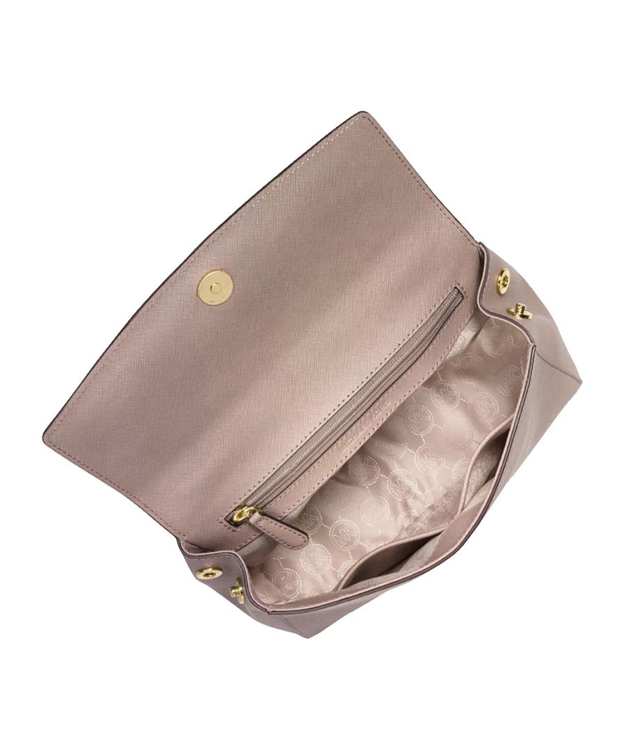 c8c033810995 ... Ava small dark dune leather satchel Sale - Michael Kors