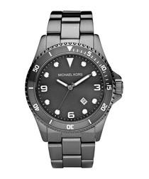 Runway gunmetal steel watch