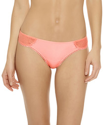 B.Awesome coral floral lace thong