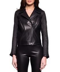 Women's Lesla black leather jacket