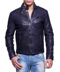 Snake marine leather jacket