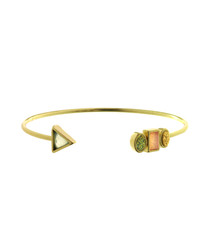 Love Geometry 18ct gold-plated bracelet