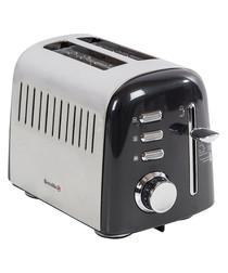 Image of Aurora black two-slot toaster