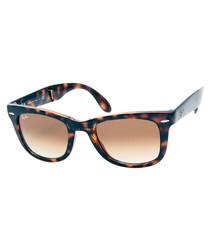 Wayfarer folding orange sunglasses