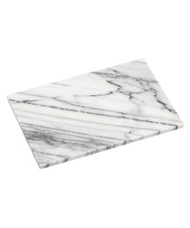 White marble chopping board