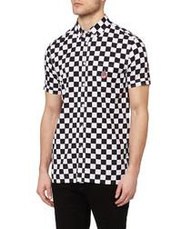 Black & white cotton check shirt