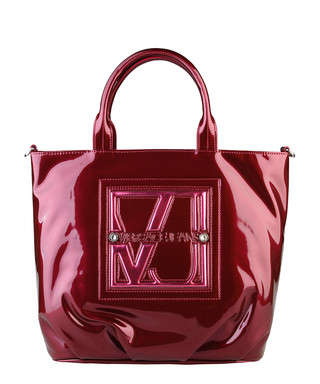Red faux leather embossed shoulder bag Sale - Versace Jeans Sale ca8082a76b4c4