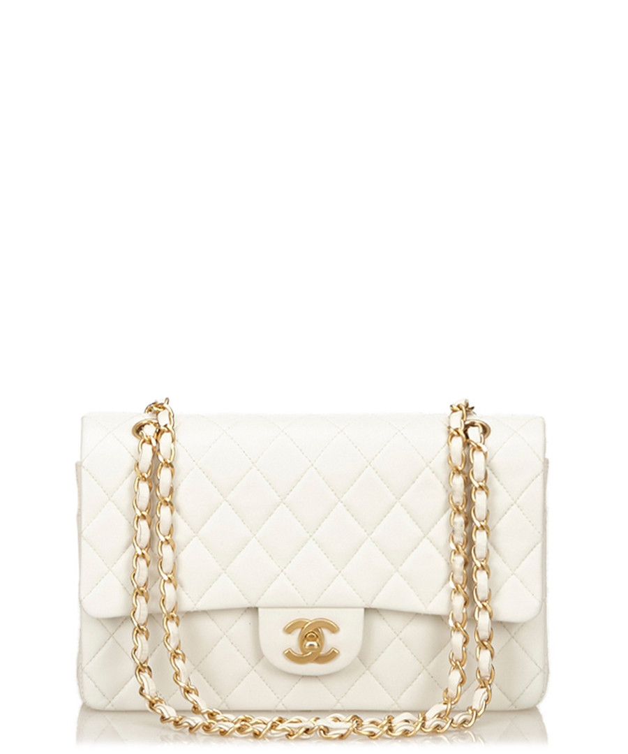 2.55 lambskin white flap medium bag Sale - Vintage Chanel
