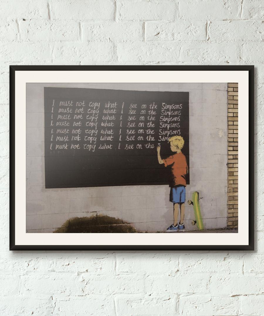 Sarcasm framed print 40cm Sale - banksy