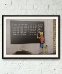 Sarcasm framed print 40cm