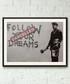 Too Late framed print 40cm Sale - banksy Sale