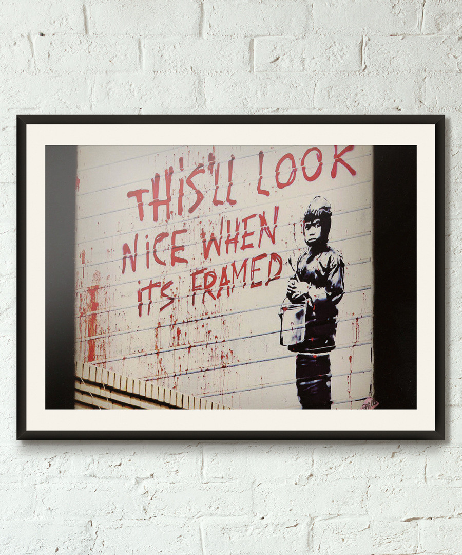 Self Promotion framed print 40cm Sale - banksy