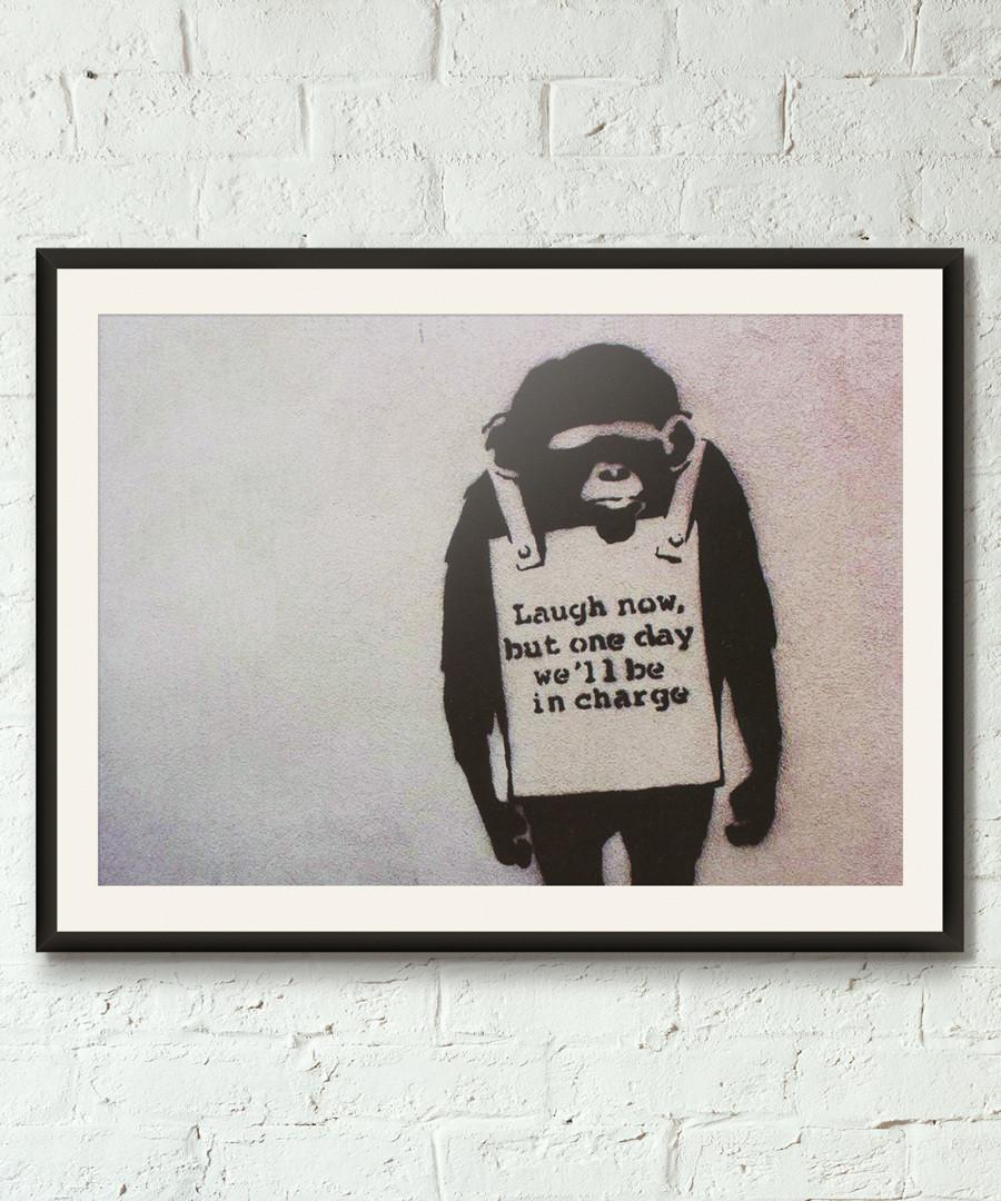Global Warning framed print 40cm Sale - banksy