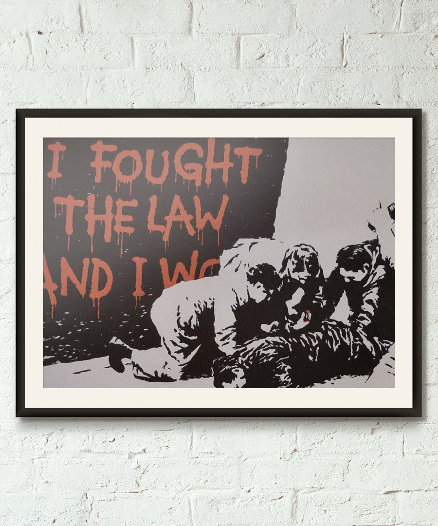 I Fought The Law framed print 40cm Sale - banksy