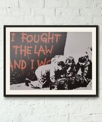 I Fought The Law framed print 40cm